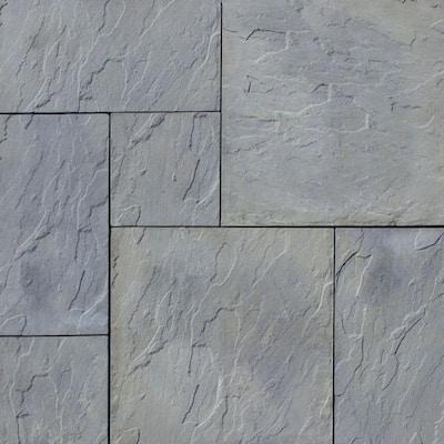 Patio-on-a-pallet 10 ft. x 10 ft. Gray Variegated Dutch York-Stone Concrete Pavers (44 Pieces/100 Sq Ft)