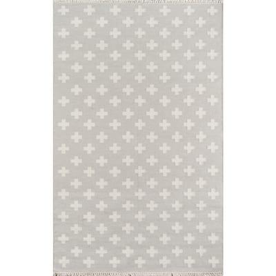 Topanga Lucille Grey 3 ft. 6 in. x 5 ft. 6in. Indoor Area Rug