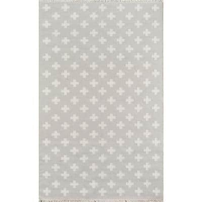 Topanga Lucille Grey 7 ft. 6 in. x 9 ft. 6in. Indoor Area Rug