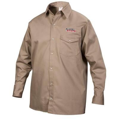 Fire Resistant Large Khaki Cloth Welding Shirt