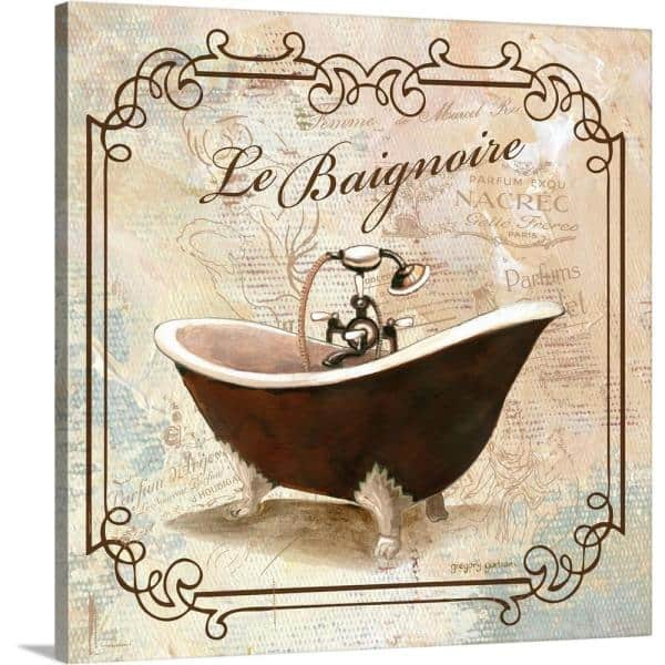 Greatbigcanvas Femme Tub By Gregory Gorham Canvas Wall Art 2127172 24 16x16 The Home Depot