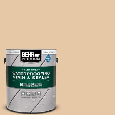 1 gal. #SC-133 Yellow Cream Solid Color Waterproofing Exterior Wood Stain and Sealer