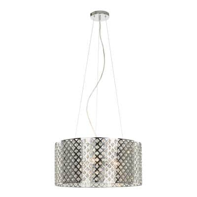 Emily 3-Light Crystal and Chrome Chandelier