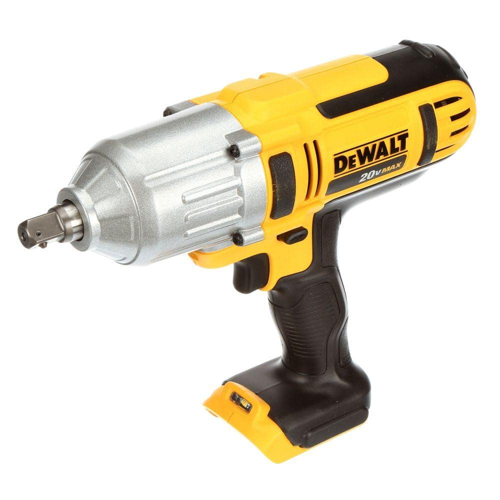Dewalt 20 Volt Max Cordless 1 2 In High Torque Impact Wrench With Detent Pin Tool Only Dcf889b The Home Depot