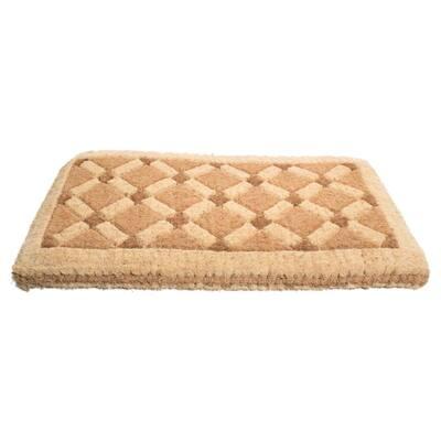 Traditional Coir, Cross Board, 47 in. x 18 in. Natural Coconut Husk Door Mat