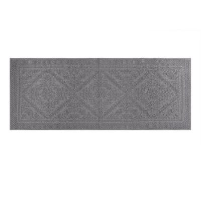 Provence Collection Grey 20 in. x 60 in. 100% Cotton Bath Rug