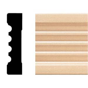 583 - 3/4 in. x 3 in. x 8 ft. Basswood Wood Fluted Casing Moulding