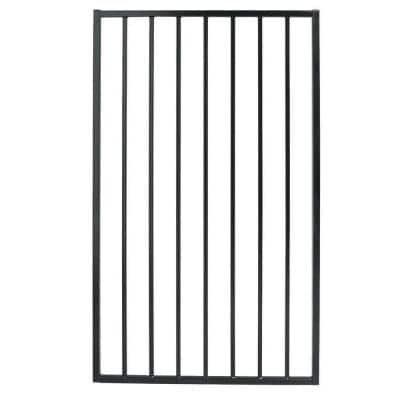Pro Series 2.75 ft. x 4.8 ft. Black Steel Fence Gate