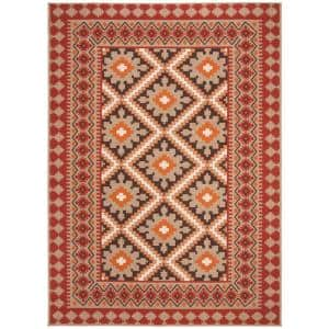 Veranda Red/Natural 9 ft. x 12 ft. Indoor/Outdoor Area Rug
