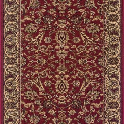 Kurdamir Kashan Claret 33 in. x Your Choice Length Stair Runner
