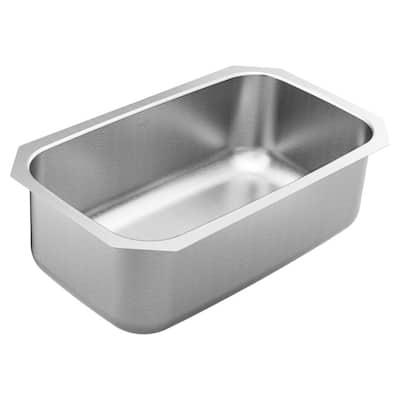 1800 Series Stainless Steel 30.5 in. Single Bowl Undermount Kitchen Sink