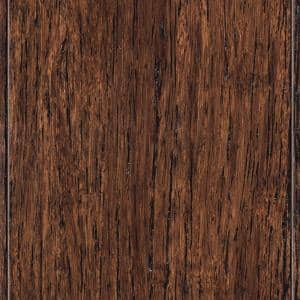 Wire Brushed Strand Woven Tobacco 3/8 in. x 3-7/8 in. x 36-1/4 in. Length Solid Bamboo Flooring (23.41 sq. ft. /case)
