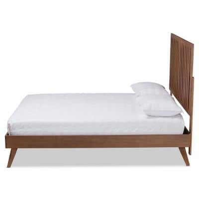 Saki Brown King Platform Bed