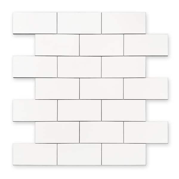 Dip Design Is Personal Dip White Subway Tile 12 In X 12 In Self Adhesive Pvc Backsplash Mskl K1b The Home Depot