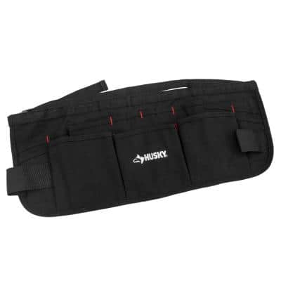 24 in. 13-Pocket Black Canvas Waist Apron