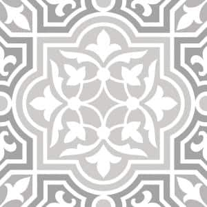 12 in. x 12 in. Grey Cheverny Peel & Stick Vinyl Tile Flooring Set of 20