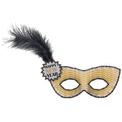 1.2 in. Happy New Year Sequin Mask