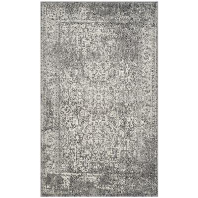 Evoke Grey/Ivory 3 ft. x 5 ft. Area Rug