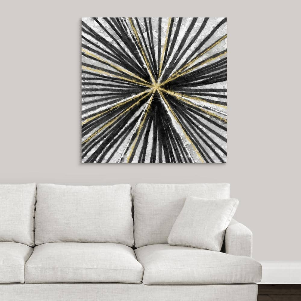 Greatbigcanvas Black And Gold By Linda Woods Canvas Wall Art 2452874 24 36x36 The Home Depot