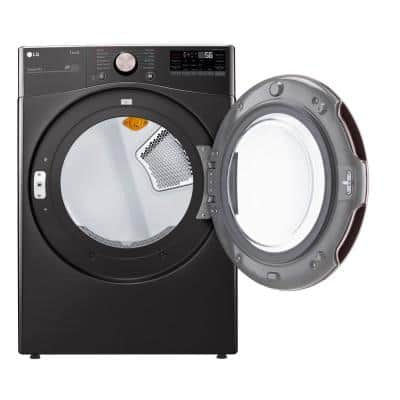 7.4 cu. ft. Ultra Large Black Steel Smart Electric Vented Dryer with Sensor Dry, TurboSteam & Wi-Fi Enabled