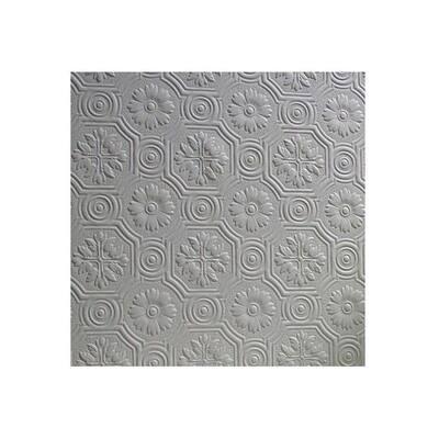 Spencer Paintable Supaglypta White & Off-White Wallpaper Sample