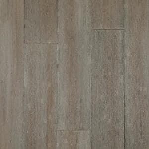 Wire Brushed Strand Woven Cobblestone 1/2 in. T x 7.48 in. W x 72.83 in. L Click Lock Bamboo Flooring(30.27 sq.ft./case)