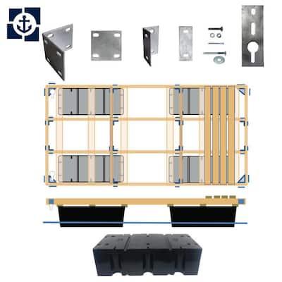 8 ft. x 12 ft., 10 ft. x 12 ft., 6 ft. x 16 ft., 8 ft. x 16 ft. Floating Wood Dock Kit