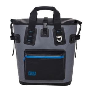 Welded Pewter Gray Soft Cooler Backpack with Wide Mouth Opening