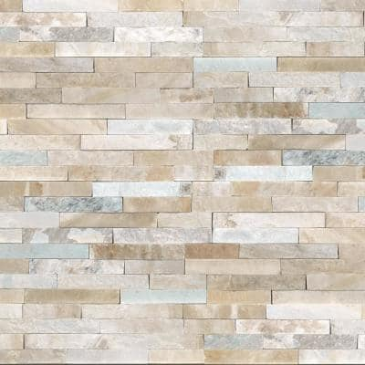 Malibu Gold Panel 6 in. x 24 in. Natural Quartzite Wall Tile (4 sq. ft./Case)