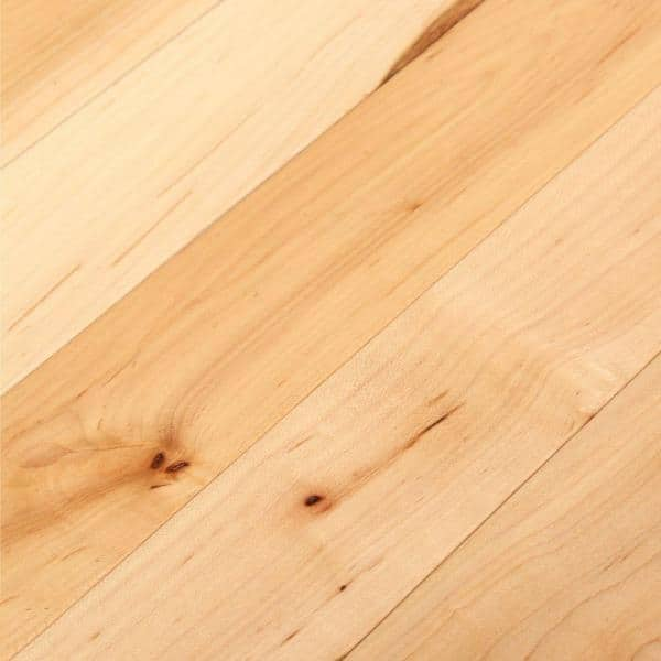 Bruce Natural Maple 3 4 In Thick X 2 1 4 In Wide X Varying Length Solid Hardwood Flooring 20 Sq Ft Case Ahs4010 The Home Depot