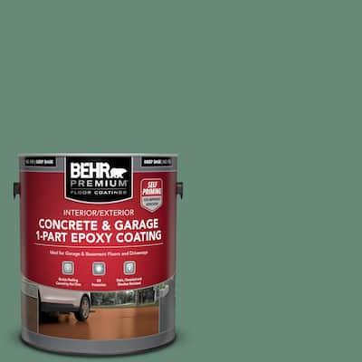 1 gal. #PPF-35 Green Adirondack Self-Priming 1-Part Epoxy Satin Interior/Exterior Concrete and Garage Floor Paint