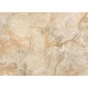 Taupe Traventine Marble 18 in. W x 13 in. L Polypropylene Placemat Set (4-Pack)