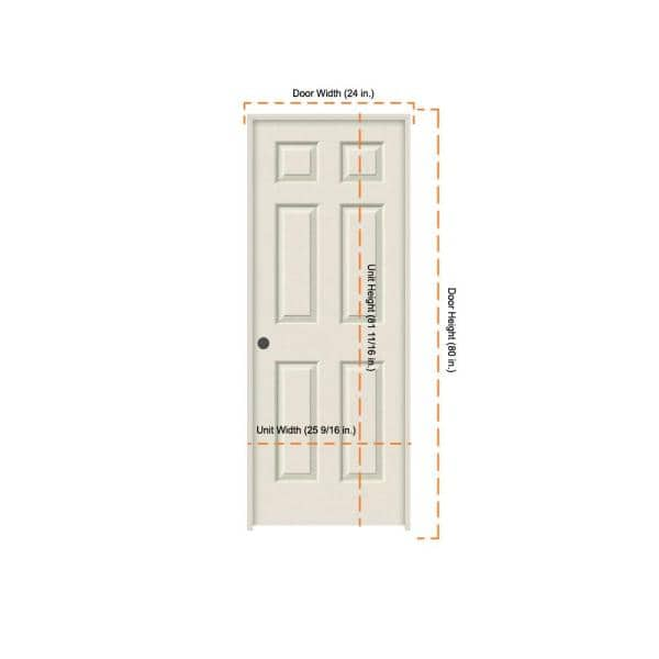 Jeld Wen 24 In X 80 In Colonist Primed Right Hand Textured Molded Composite Mdf Single Prehung Interior Door Thdjw136500883 The Home Depot