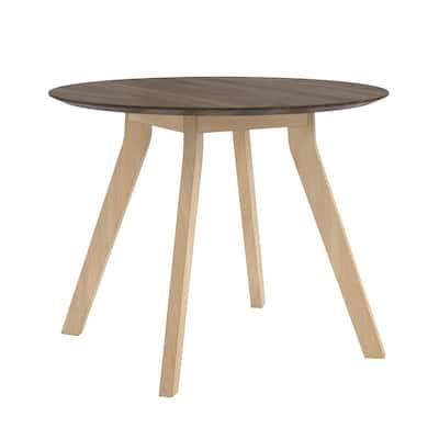 AX1 Round Walnut Meeting Table