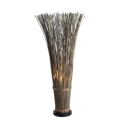 Reed 46 in. Driftwood Gray Floor Lamp