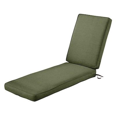 Montlake FadeSafe Heather Fern Outdoor Chaise Lounge Cushion