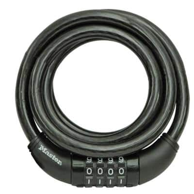 8370D 5 ft. Braided Steel Cable with Vinyl Coating Set Your Own Combination Bike Lock