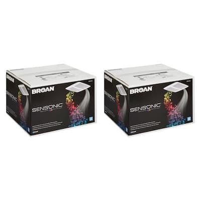 Sensonic Wireless Bluetooth Speaker 1 Sones Bathroom Ceiling Fan (2-Pack)