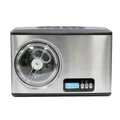 1.6 Qt. Stainless Steel Electric Ice Cream Maker with Built-In Timer