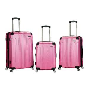 London 3-Piece Hardside Spinner Luggage Set, Pink