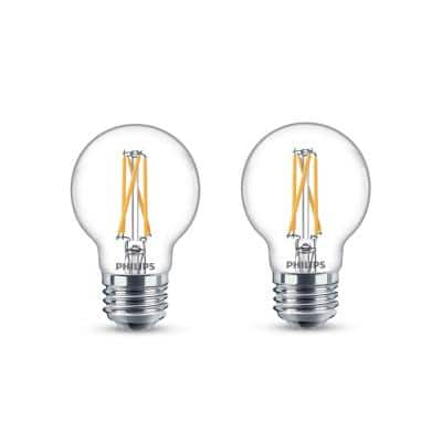 25-Watt Equivalent Soft White G16.5 Dimmable LED Light Bulb with Warm Glow Dimming Effect (2-Pack)