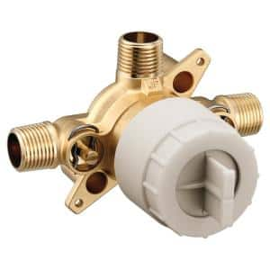 M-CORE 3-Series 1/2 in. 3 Port Shower Mixing Valve with CC/IPC Connections and Stops