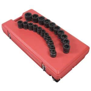1 in. Drive SAE Impact Socket Set (21-Piece)