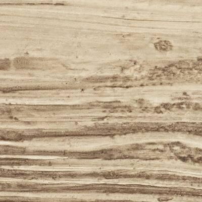 SAMPLE - 6 in. x 6 in. Sandstone Natural Pine Endurathane Faux Wood Ceiling Beam Material