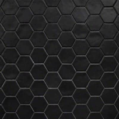 Maine Black 12 in. x 12 in. Hexagon Matte Ceramic Mosaic Floor and Wall Tile (0.96 sq. ft./Sheet)