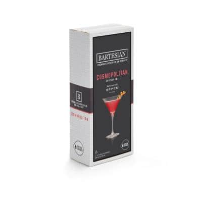 Cosmopolitan 6-Piece Clear Plastic Cocktail Mix Capsules
