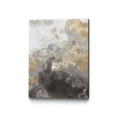 """Ocean Splash II Grey Version"" by PI Studio Abstract Wall Art 40 in. x 30 in."