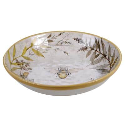 Bee Sweet 13 in. Multicolored Serving/Pasta Bowl