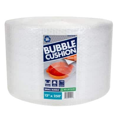3/16 in. x 12 in. x 250 ft. Clear Perforated Bubble Cushion Wrap (2-Pack)