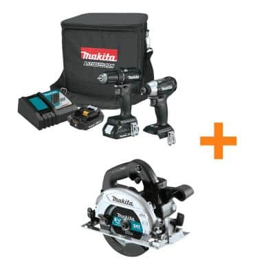 18-Volt LXT Sub-Compact Brushless 2-Piece Combo Kit 2.0Ah with bonus 18V 6-1/2 in. LXT Sub-Compact Brushless Circ Saw